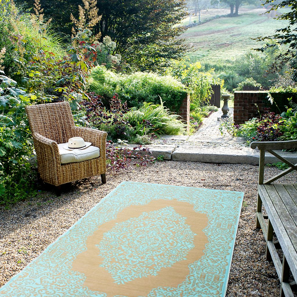 Fab Habitat World Istanbul Floral Reversible Indoor Outdoor Rug