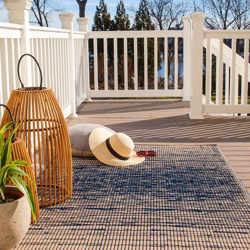 Fab Habitat World Brooklyn Abstract Reversible Indoor Outdoor Rug
