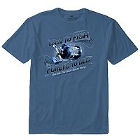 Men's Newport Blue Fishing Tee