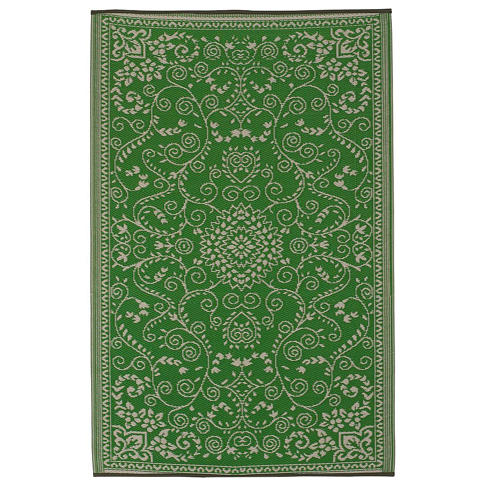 Fab Habitat World Murano Floral Reversible Indoor Outdoor Rug