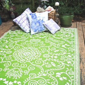 Fab Habitat World Murano Floral Reversible Indoor Outdoor Rug