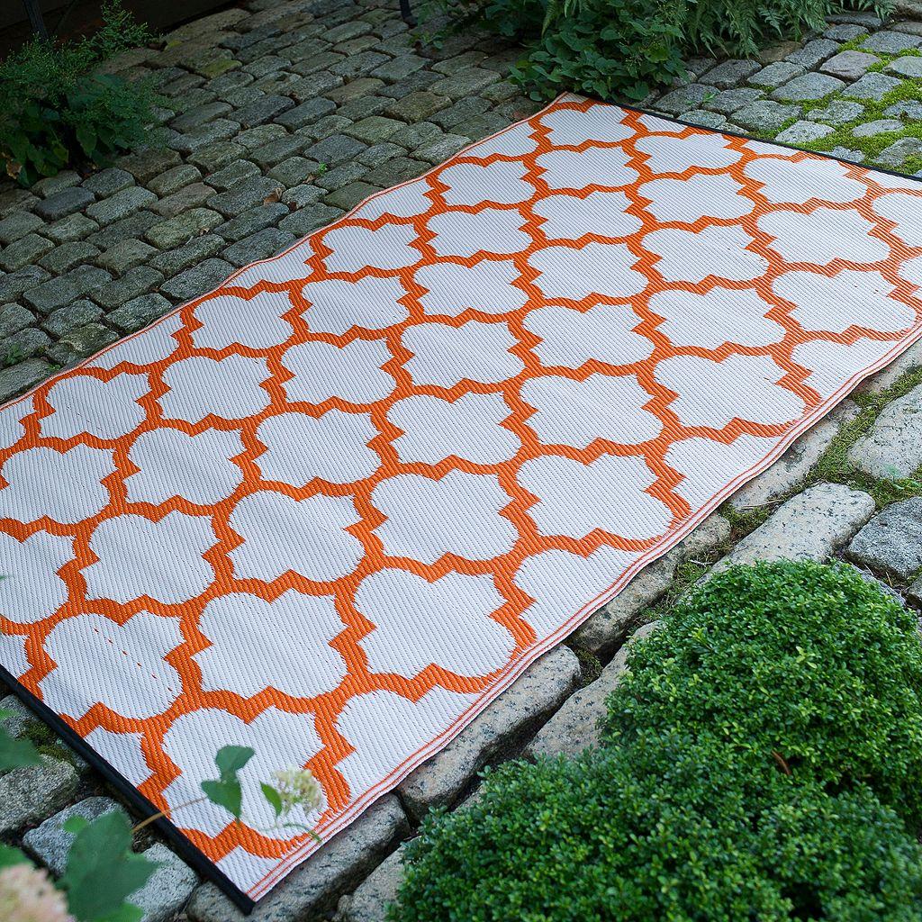 Fab Habitat World Tangier Trellis II Reversible Indoor Outdoor Rug