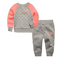 Baby Girl Nike Air Star Print Sweatshirt & Pants Set