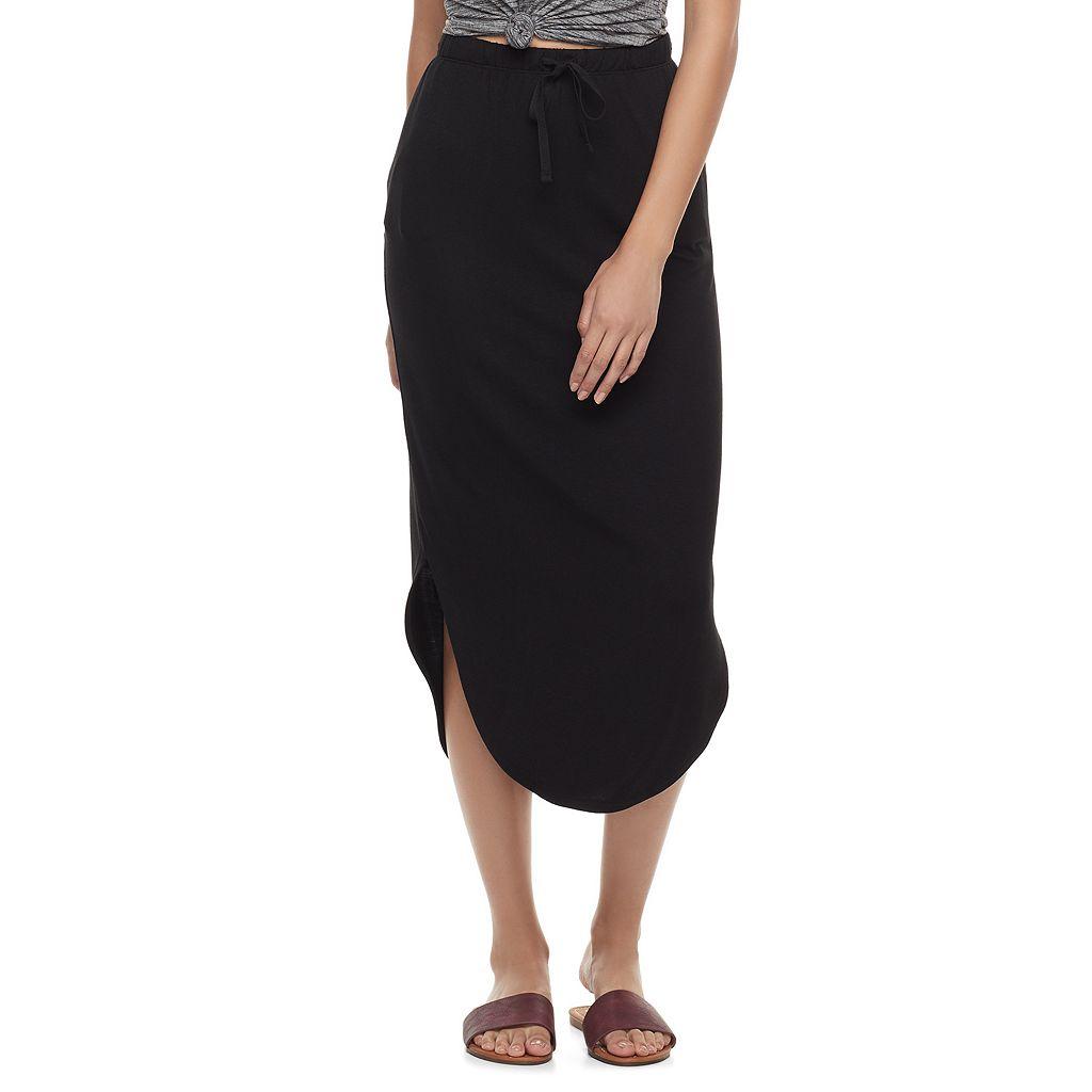 Juniors' SO® Curved Hem Midi Skirt