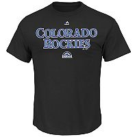 Men's Majestic Colorado Rockies Series Sweep Tee
