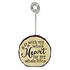 New View 'Whole Heart' Faux Wood Photo Clip