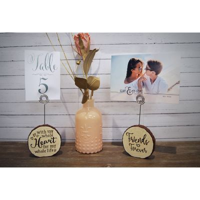 "New View ""Whole Heart"" Faux Wood Photo Clip"