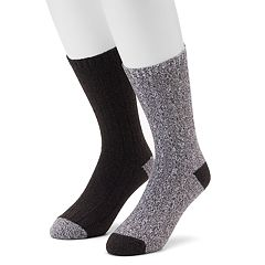 Men's Climatesmart 2-pack Twist Ribbed Crew Socks