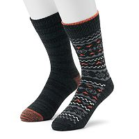 Men's Climatesmart 2-pack Fairisle & Space-Dyed Crew Socks