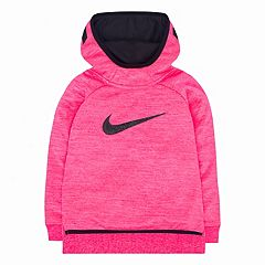 Toddler Girl Nike Therma-FIT Silicone 'Just Do It' High-Low Pink Hoodie