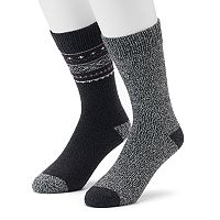 Men's Climatesmart 2-pack Tribal & Twist Crew Socks