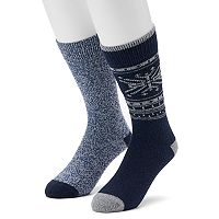 Men's Climatesmart 2-pack Fairisle & Twist Crew Socks