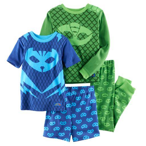 Boys 4-12 PJ Masks 4-Piece Pajama Set