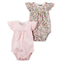 Baby Girl Carter's 2-pk. Geometric & Floral Bodysuits
