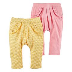 Baby Girl Carter's 2 pkFloral & Solid Ruffle Pants