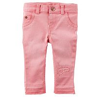 Baby Girl Carter's Distressed Raw-Edge Denim Jeans