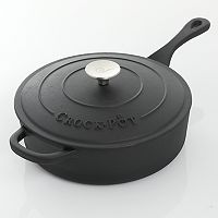 Crock-Pot 3.5-qt. Pre-Seasoned Cast- Iron Deep Saute Pan