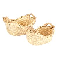 Household Essentials 2 pc Cobblestone Basket Set