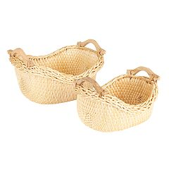 Household Essentials 2-piece Cobblestone Basket Set