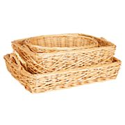 Household Essentials 3 pc Spring Bird Nest Willow Basket Set
