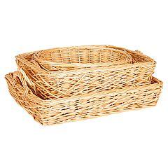 Household Essentials 3 pc Spring Bird Nest Willow Basket Set