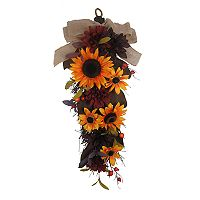 SONOMA Goods for Life™ Artificial Sunflower Teardrop Indoor Wreath
