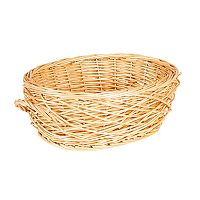 Household Essentials Spring Bird Nest Willow Oval Basket