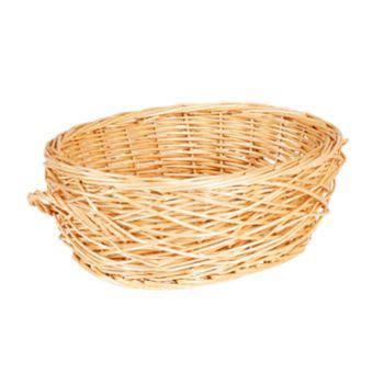 Household Essentials Spring Bird Nest Willow Oval Basket
