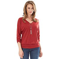 Women's Apt. 9 3/4-Sleeve Banded Bottom Top