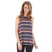 Women's Apt. 9 Printed Mandarin Swing Tank Top