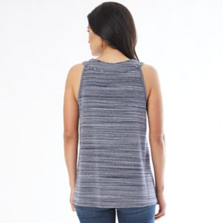 Women's Apt. 9 Textured Mandarin Tank Top