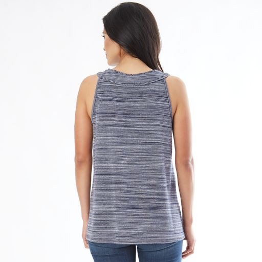 Women's Apt. 9 Textured Mandarin Tank Top