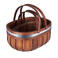 Household Essentials 2 pc Decorative Cedar Market Basket Set