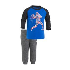 Toddler Boy Under Armour Illuminated Raglan Football Tee & Pants Set