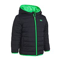 Toddler Boy Under Armour Puffer Black Heavyweight Jacket