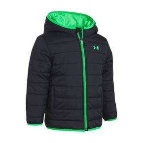 Toddler Boy Under Armour Puffer Black Heavyweight Jacket