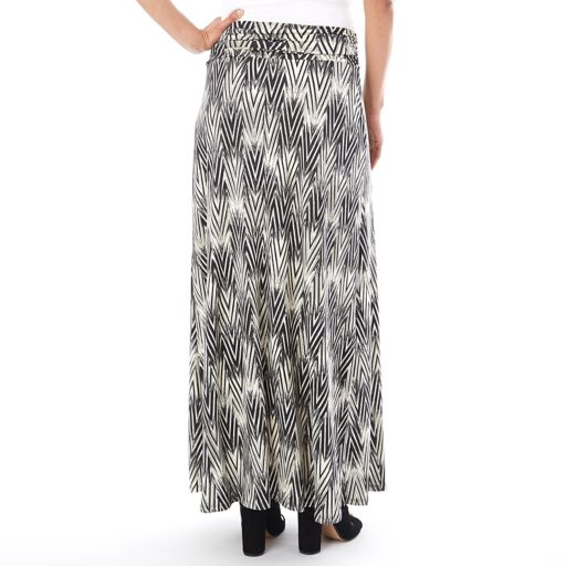 Women's Apt. 9 Printed Column Maxi Skirt