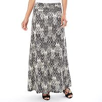 Women's Apt. 9 Printed Column Maxi Skirt