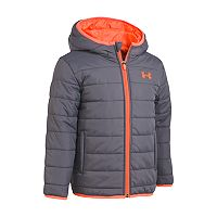 Toddler Boy Under Armour Puffer Gray Heavyweight Jacket