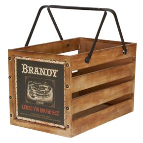 Household Essentials Large Wooden Crate