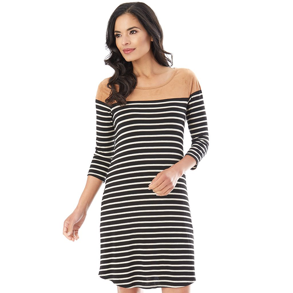 Women's Apt. 9 Striped Shift Dress