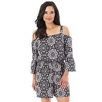 Women's Apt. 9 Off the Shoulder Crepe Romper