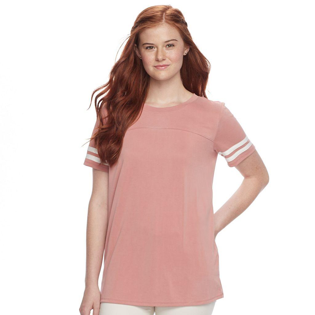 Juniors' Pink Republic Soft Varsity Tee