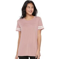 Juniors' Pink Republic Soft Varsity Tee