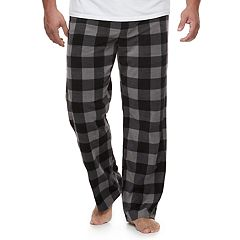 BIg & Tall 2-pack Solid and Patterned Microfleece Lounge Pants Set