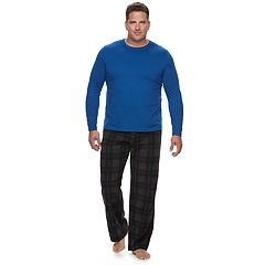 Big & Tall Solid Tee and Microfleece Lounge Pants Set