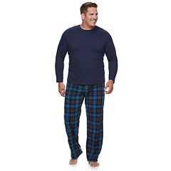 Big & Tall Solid Tee and Microfleece Lounge Pants Set