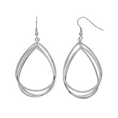 Interlock Teardrop Earrings