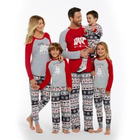 Toddler Cuddl Duds Family Jammies Bear Fairisle One-Piece Footed Pajamas