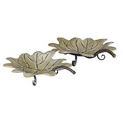 Household Essentials 2 pc Decorative Leaf Tray Set